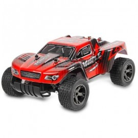 image of JULE UJ99 - 2812B 2.4GHZ 1:18 RC CAR RTR 20KM/H / SHOCK ABSORBER / IMPACT-RESISTANT PVC SHELL (RED) 0